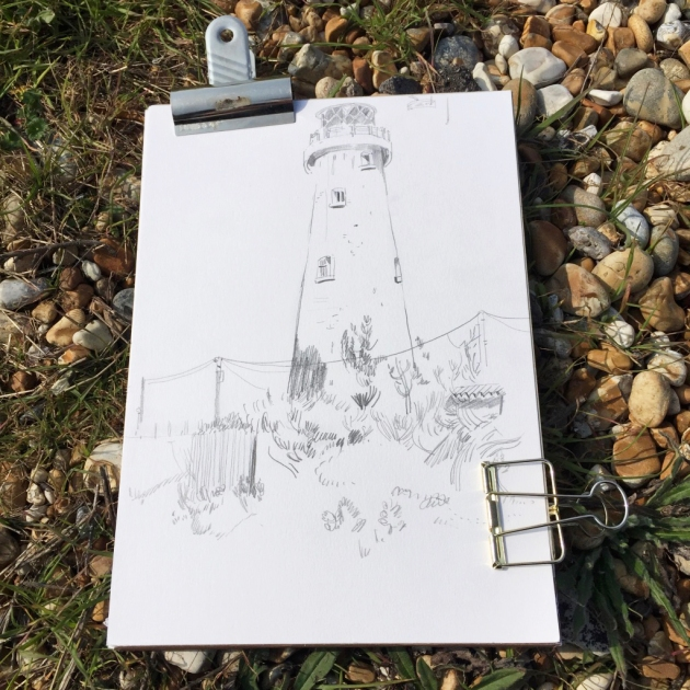 Owlstation_Dungeness_Lighthouse Drawing_skecthbook_2019